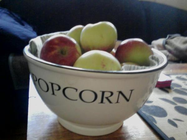 Apples not popcorn